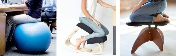 Alternative ways to sit at your desk