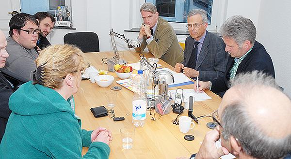 Jörg Krell am Stammtisch des Bürgerportals
