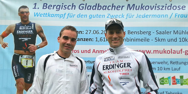 Sebastian Koch und Marco Henrichs an der Saaler Mühle.