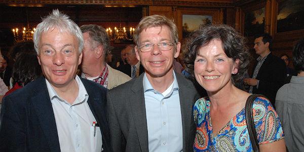 Michael Schubek mit Frau und SPD-Fraktionschef Klaus Waldschmidt