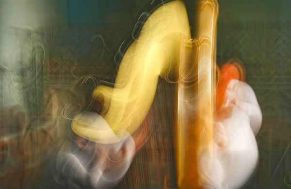 Freude für zwei Harfen im Altenberger Dom. Fotos: Gisela Schwarz