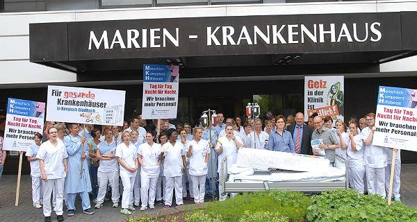 MKH-Mitarbeiter machen Rabatz - für die Pflege