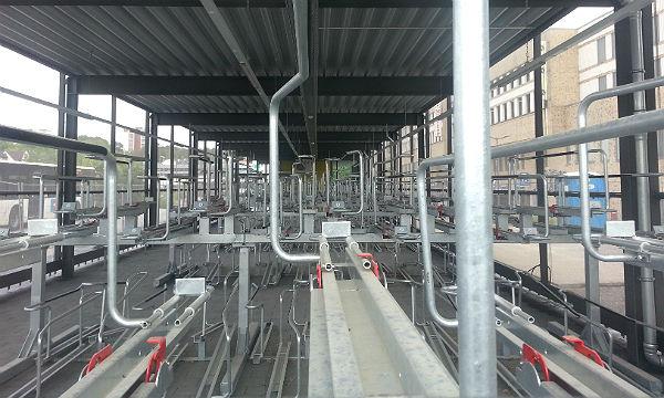 Die neue Radstation am S-Bahnhof in Bergisch Gladbach