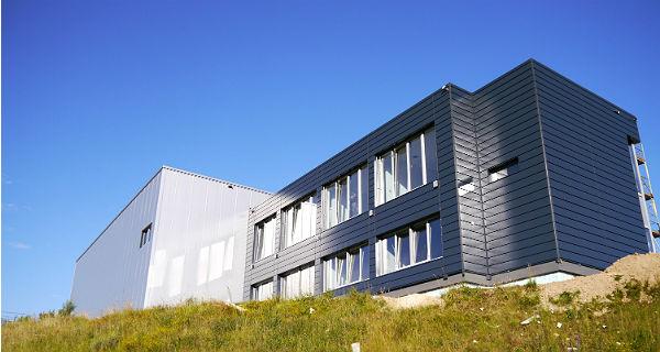 Brüssel Steel: Das neue Firmengebäude im Gewerbegebiet Obereschbach, Bergisch Gladbach