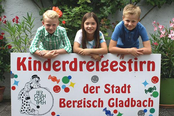 Das Kinderdreigestirn Bergisch Gladbach für die kommende Session 2015/2015 aus Bensberg