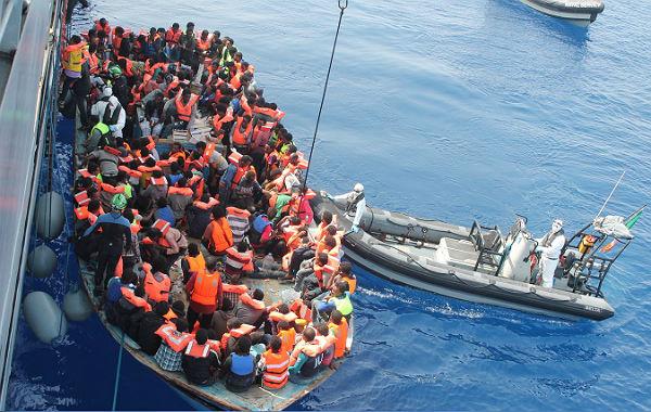 Rettung von Flüchtlingen aus Seenot. Foto: IDF/Wikimedia