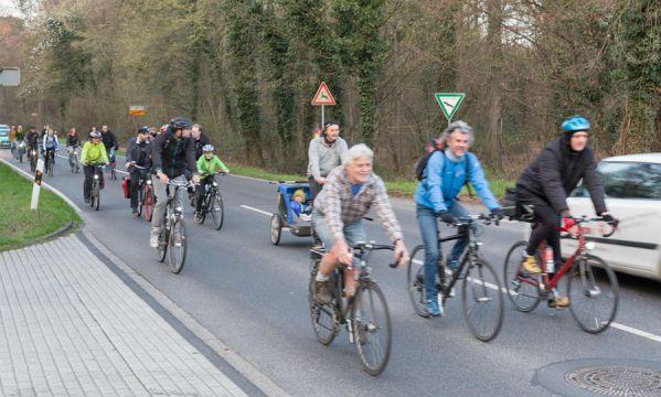 Die erste Critical-Mass-Radtour in Bergisch Gladbach