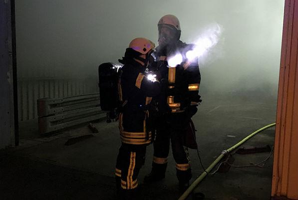 Feuerwehreinsatz bei St. Gobain-Isover G-H, Bergisch Gladbach. Foto: Feuerwehr