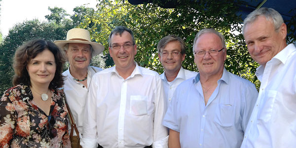 Ute Stauer, Olaf K. Marx, Andreas Ebert, Michael Zalfen, Gerd Neu (AG 60 plus), Robert Winkels (SPD-Vorsitzender der SPD Bergisch Gladbach)