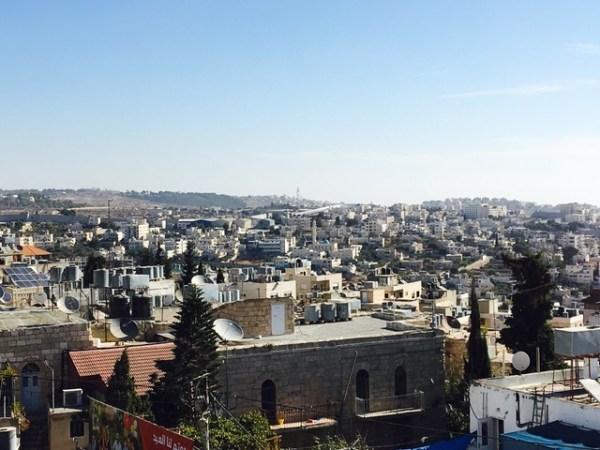 Der Blick über Beit Jala