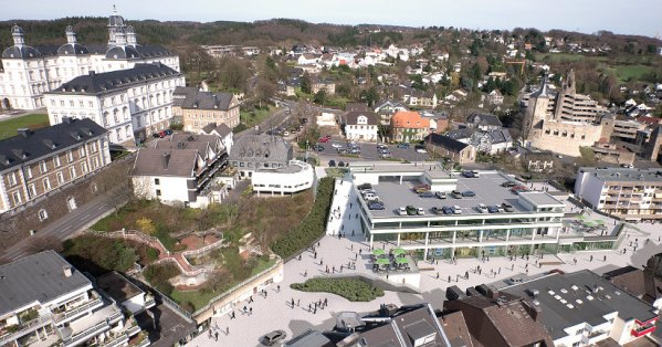 Modell der neuen Marktgalerie mit städtischer Freitreppe. Foto: Screenshot/Beschlussvorlage
