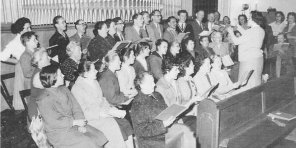 Chor der Gnadenkirche 1958