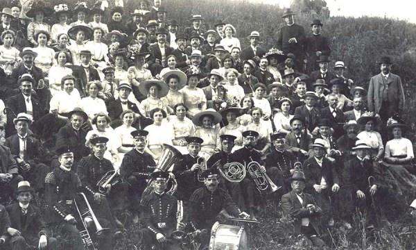 Chorausflug im Jahr 1912 nach Sand und Herrenstrunden