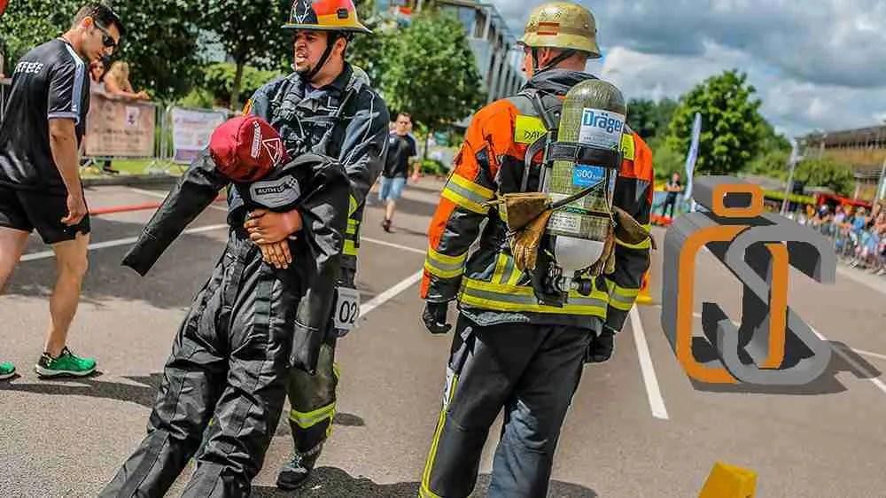 manichini per addestramento - esercitazione dei vigili del fuoco