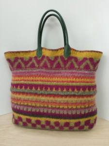 Fabulous felted tote bag