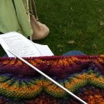 You can knit anywhere you like, in the summertime