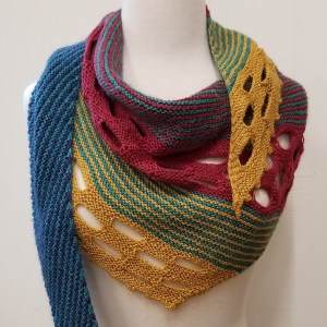 MULTI COLORED KNIT SHAWL