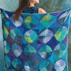 green and blue multi colored swir blankt