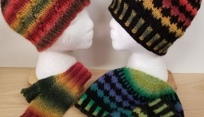 ee4aaaf7ffe Amitola Faux Fair Isle Hat and Mitts
