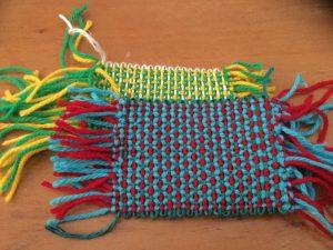 アンギン 花編み