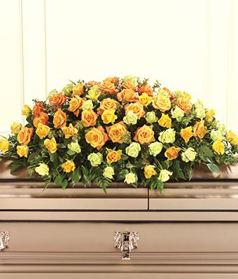 From You Flowers Full Couch Casket Spray