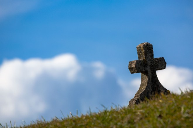 Cross on a Lawn Grave