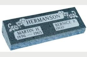 image of a double bevel granite headstone