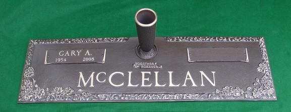 lawn level double grave marker