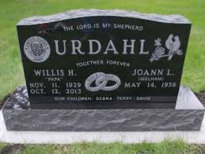 Classic double upright grave stone
