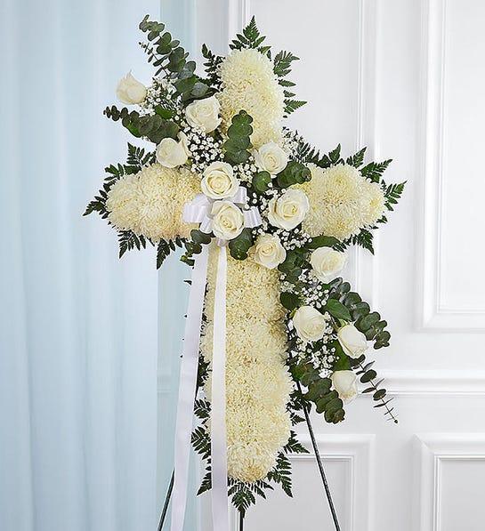 Peace & Prayers™ White Standing Cross