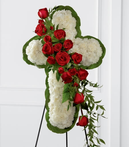 Floral Cross Easel from Florist One