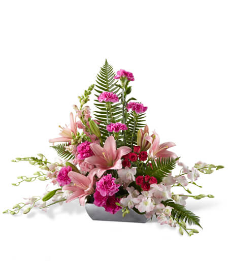 Uplifting Moments Orchid funeral Arrangement