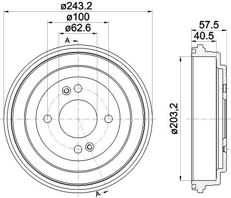 Тормозной барабан TEXTAR 94035900. Купить тормозной