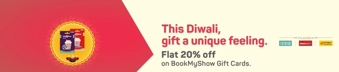 Discount on BookMyShow Gift Cards Online Movie Ticket Offer - BookMyShow