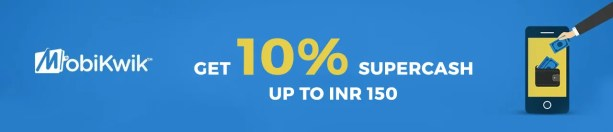 Mobikwik get upto INR 150 SuperCash offer Online Movie Ticket Offer - BookMyShow