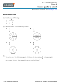 Cbse 5th Standard Maths Worksheets - charming 2nd std ...