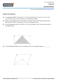 Class 9 Math Worksheets and Problems: Quadrilaterals ...