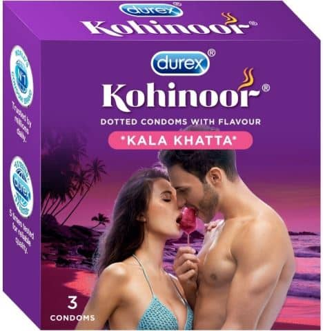 Durex Kohinoor Kala Khatta Flavoured Condoms