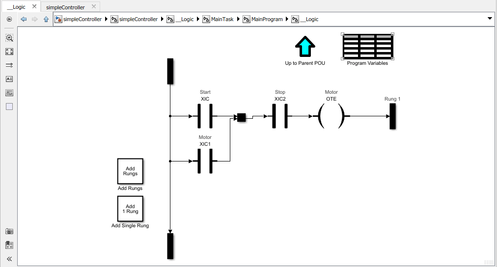Generate structured text or ladder diagram (L5X) for the