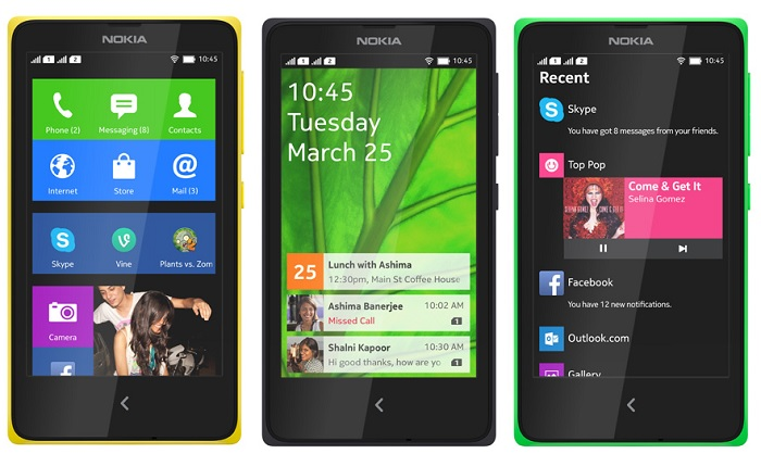 Η Nokia ανακοίνωσε Android-app running συσκευές
