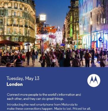 Motorola: Νέα συσκευή στις 13 Μαίου