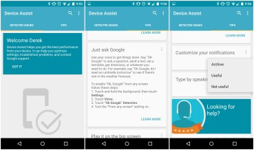 "Android Device Assist: Εικονικός ""Βοηθός"" για Nexus συσκευές."