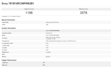 Sony Xperia Z4: Εμφανίστηκε στο GeekBench