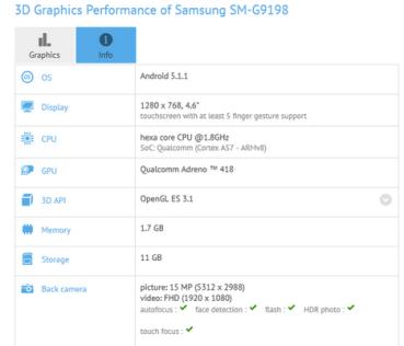 Samsung SM-G9198: Μια νέα συσκευή με τον Snapdragon 808 στο εσωτερικό της