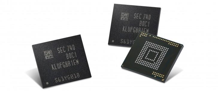 Η Samsung κατασκευάζει 512 GB eUFS μνήμες για Smartphones