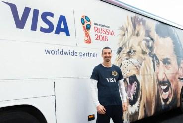 Ο Zlatan Ibrahimović επιστρέφει στο  2018 FIFA World Cup Russia με τη Visa