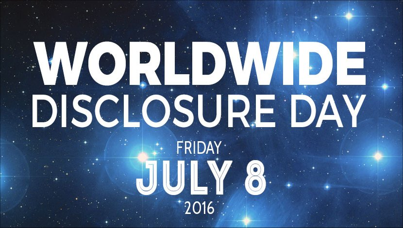 Friday July 8, 2016 - World Disclosure Day