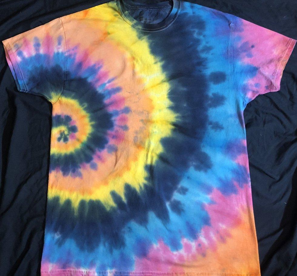 ALL Chakras Quantum Crystal & Gemstones T Side Spiral Shirt L