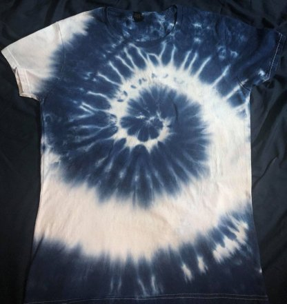 Fibluenocci 3rd Eye Spiral Ladies Crew Neck Quantum Tie Dye T Shirt