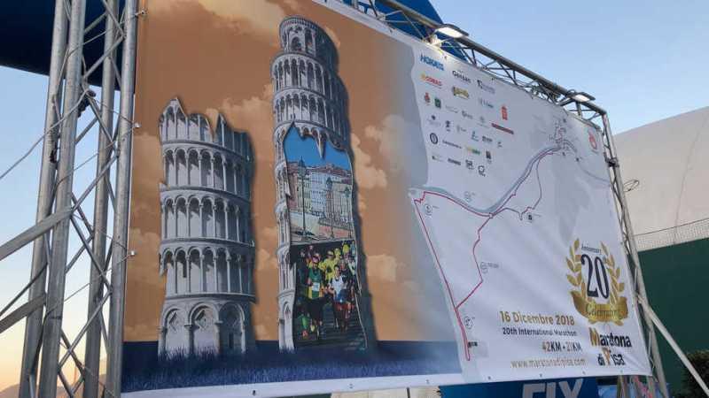 Auf dem Fahrrad zum Pisa Marathon 2018